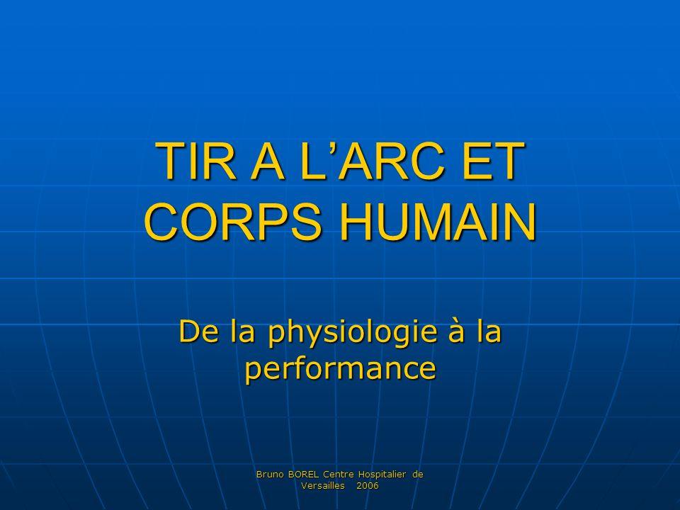 Bruno BOREL Centre Hospitalier de Versailles 2006 TIR A LARC ET CORPS HUMAIN De la physiologie à la performance