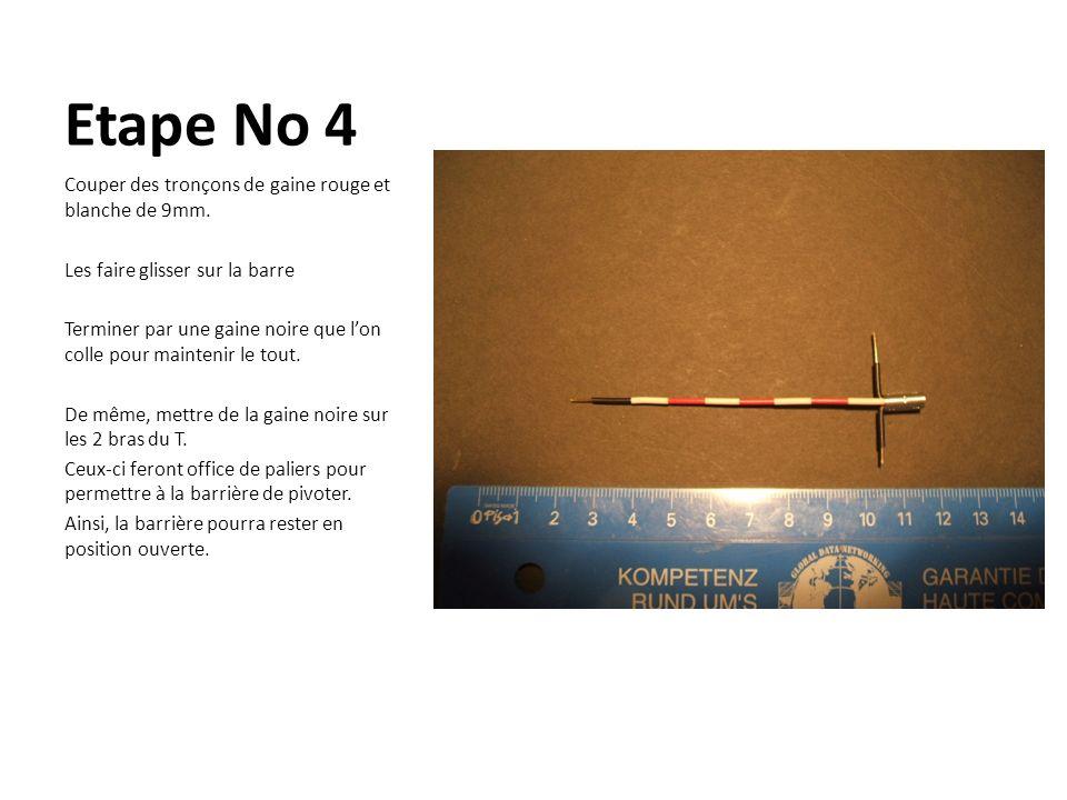 Etape No 4 Couper des tronçons de gaine rouge et blanche de 9mm. Les faire glisser sur la barre Terminer par une gaine noire que lon colle pour mainte