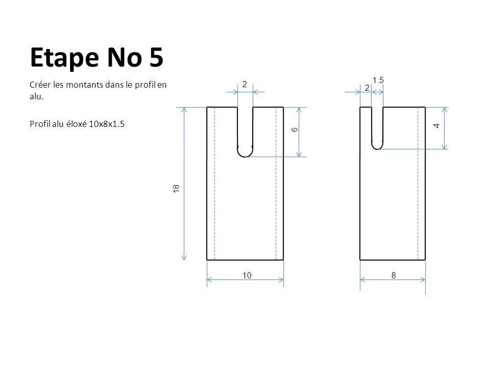 Etape No 6 Glisser les bras du T dans les 2 encoches.