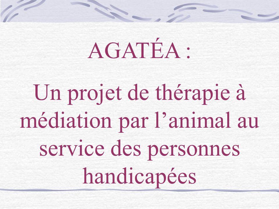 AGATÉA : Un projet de thérapie à médiation par lanimal au service des personnes handicapées