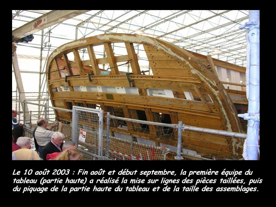 Le 7 décembre 2002 :Au sein de l'atelier de menuiserie, Arnaud Gibouin travaille à la réalisation du prototype de la barre à roue.
