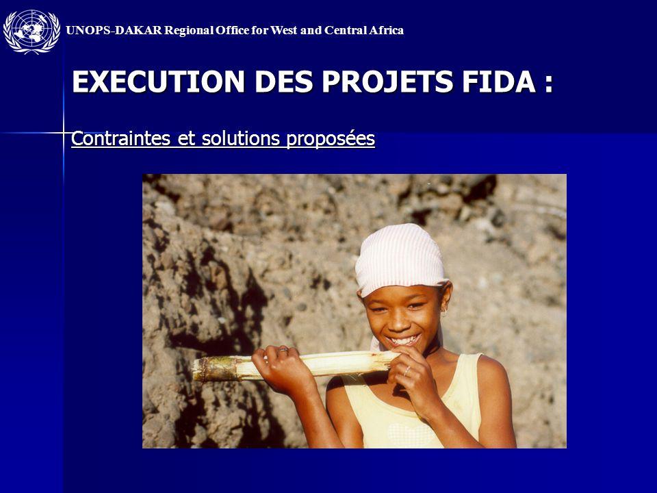 UNOPS-DAKAR Regional Office for West and Central Africa EXECUTION DES PROJETS FIDA : Contraintes et solutions proposées