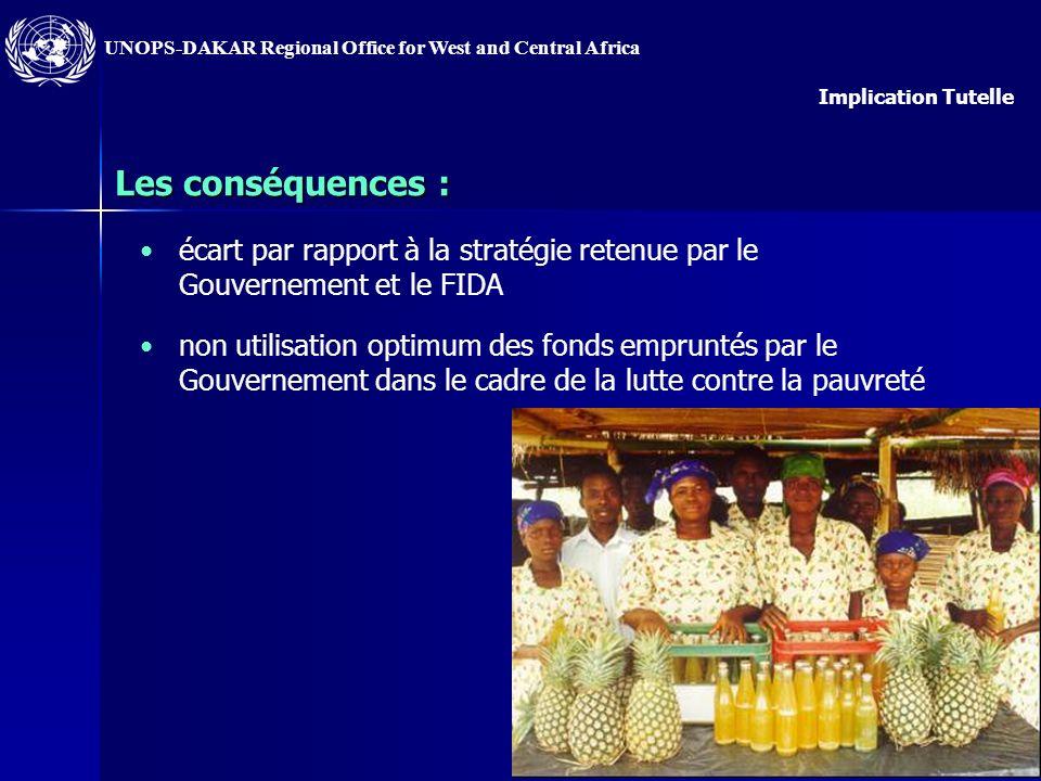 UNOPS-DAKAR Regional Office for West and Central Africa 3) Le problème : certains Ministères de tutelle et/ou comité de pilotage sont insuffisamment i