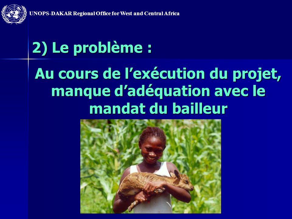 UNOPS-DAKAR Regional Office for West and Central Africa 6) Le problème : le suivi/évaluation ne permet pas de connaître suffisamment limpact socio-économique du projet