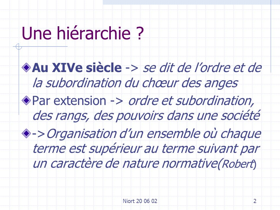 Niort 20 06 022 Une hiérarchie .