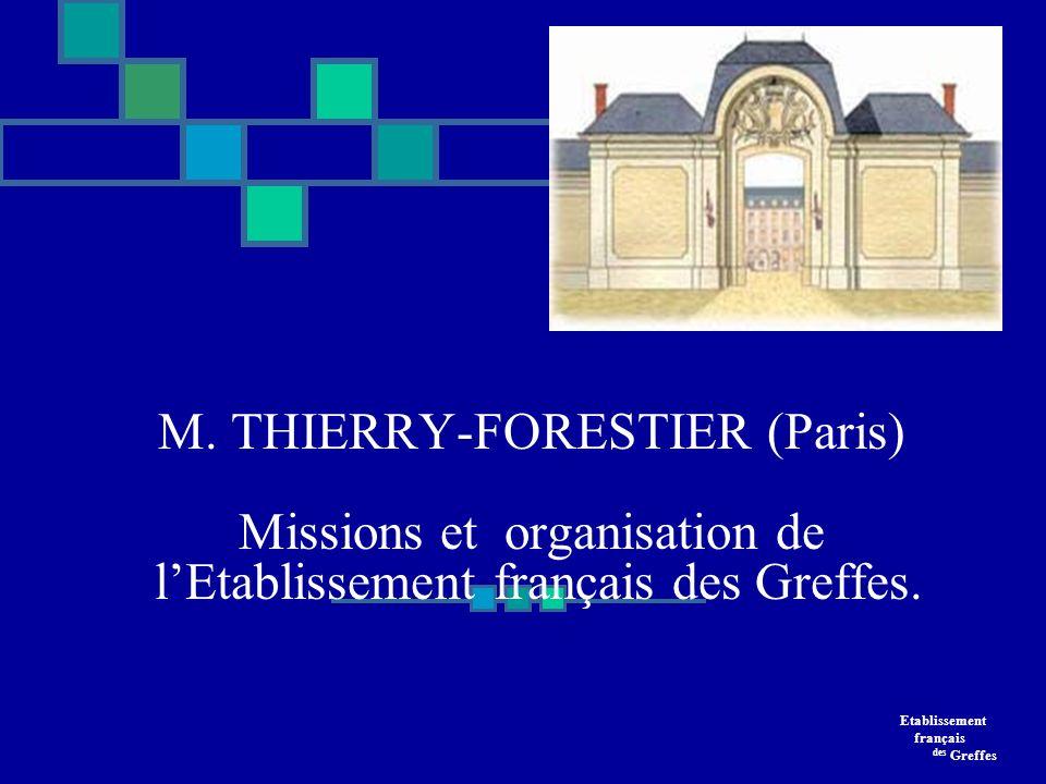 Etablissement français des Greffes EfG SRA7 Ile-de-France/Centre/Les Antilles Organisation et missions de lEtablissement français des Greffes Etablissement public administratif de lEtat sous tutelle du ministre chargé de la santé.