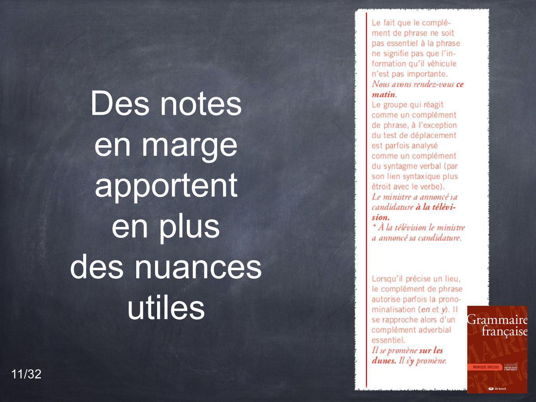 Des notes en marge apportent en plus des nuances utiles 11/32