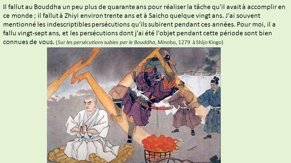 Il fallut au Bouddha un peu plus de quarante ans pour réaliser la tâche qu'il avait à accomplir en ce monde ; il fallut à Zhiyi environ trente ans et