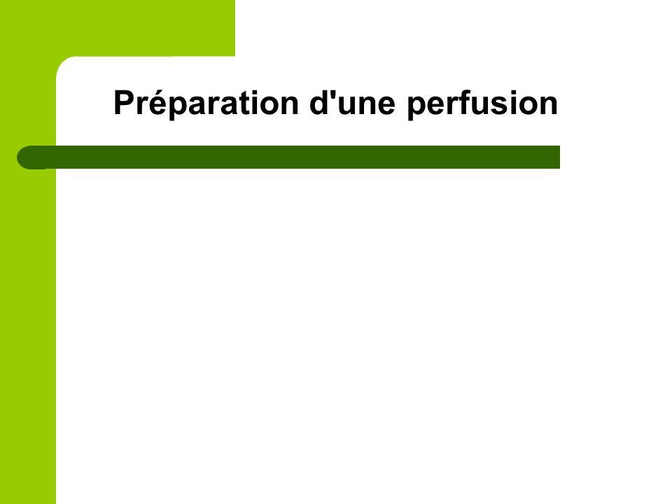 Préparation d'une perfusion