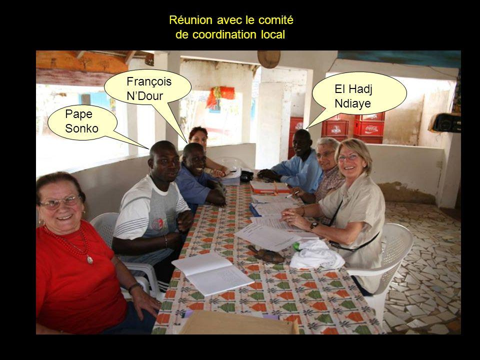 Pape Sonko François NDour El Hadj Ndiaye Réunion avec le comité de coordination local
