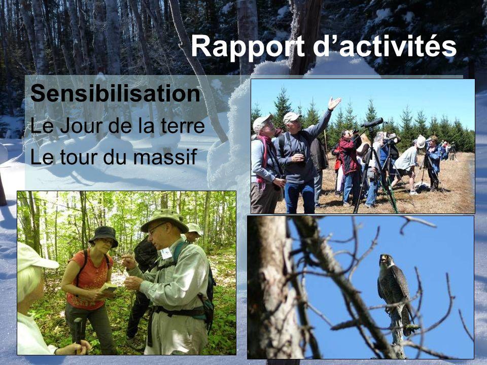 Sensibilisation Le Jour de la terre Le tour du massif Rapport dactivités