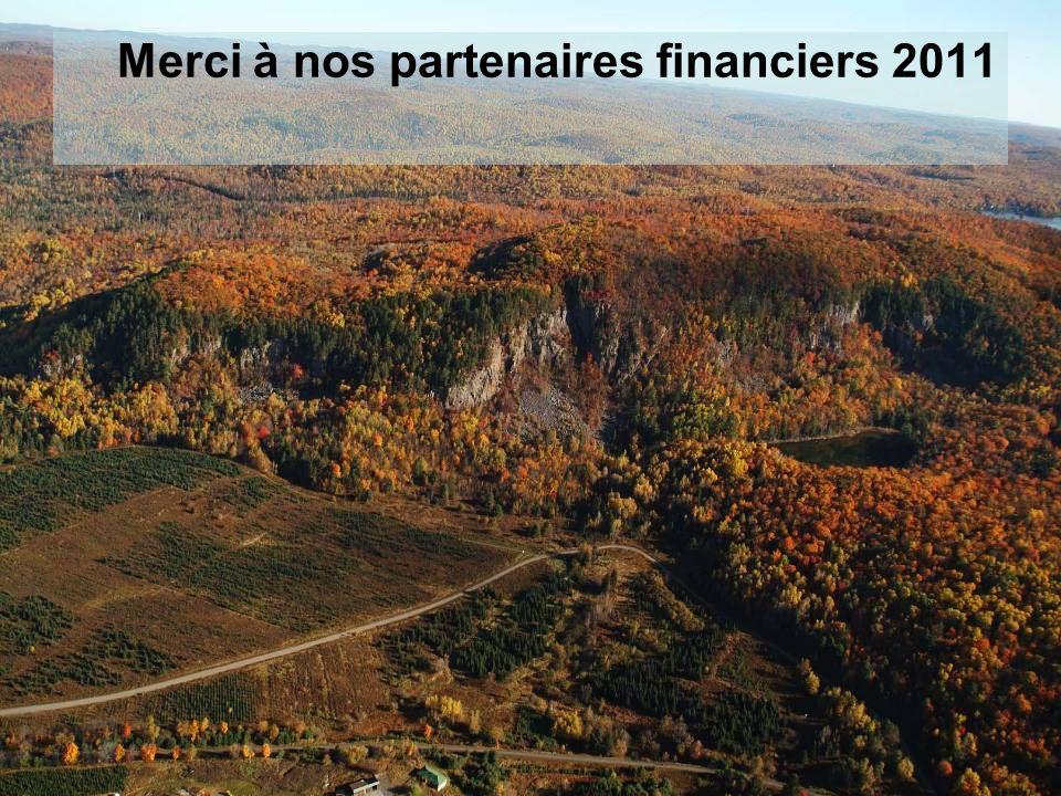Merci à nos partenaires financiers 2011