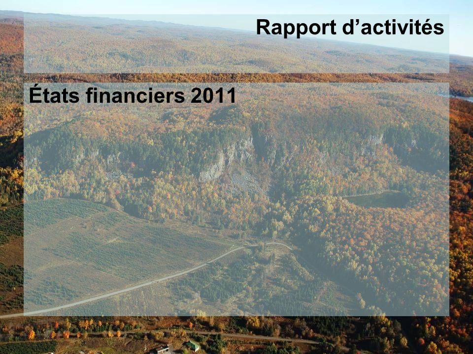 Rapport dactivités États financiers 2011