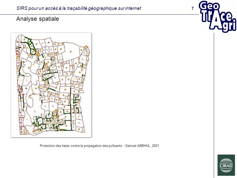 SIRS pour un accès à la traçabilité géographique sur internet Analyse spatiale Protection des haies contre la propagation des polluants - Samuel ABBHÜL, 2001 7
