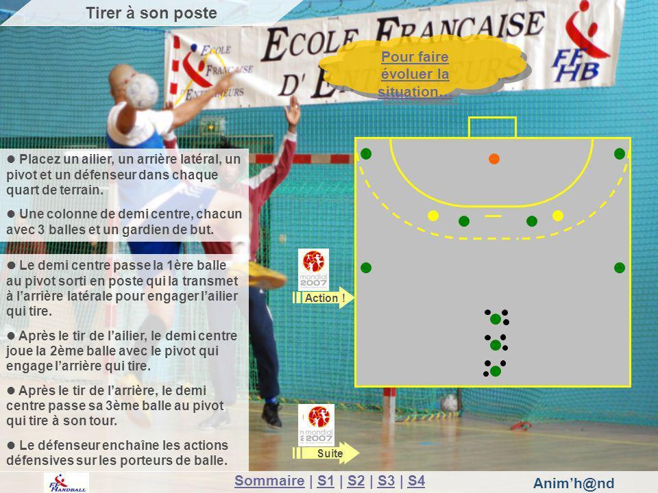 Animh@nd Pour faire évoluer la situation… Pour faire évoluer la situation… Libérer des espaces dans une défense 1-5 homme à homme Le jeu se déroule à 4 contre 4 sur une moitié de terrain.