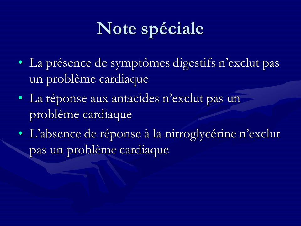 Note spéciale La présence de symptômes digestifs nexclut pas un problème cardiaqueLa présence de symptômes digestifs nexclut pas un problème cardiaque