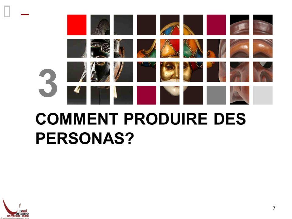 18 Conclusion générale: Construction prospective « Persona is the mask » (Jung) Ce sont des utilisateurs futurs probables.