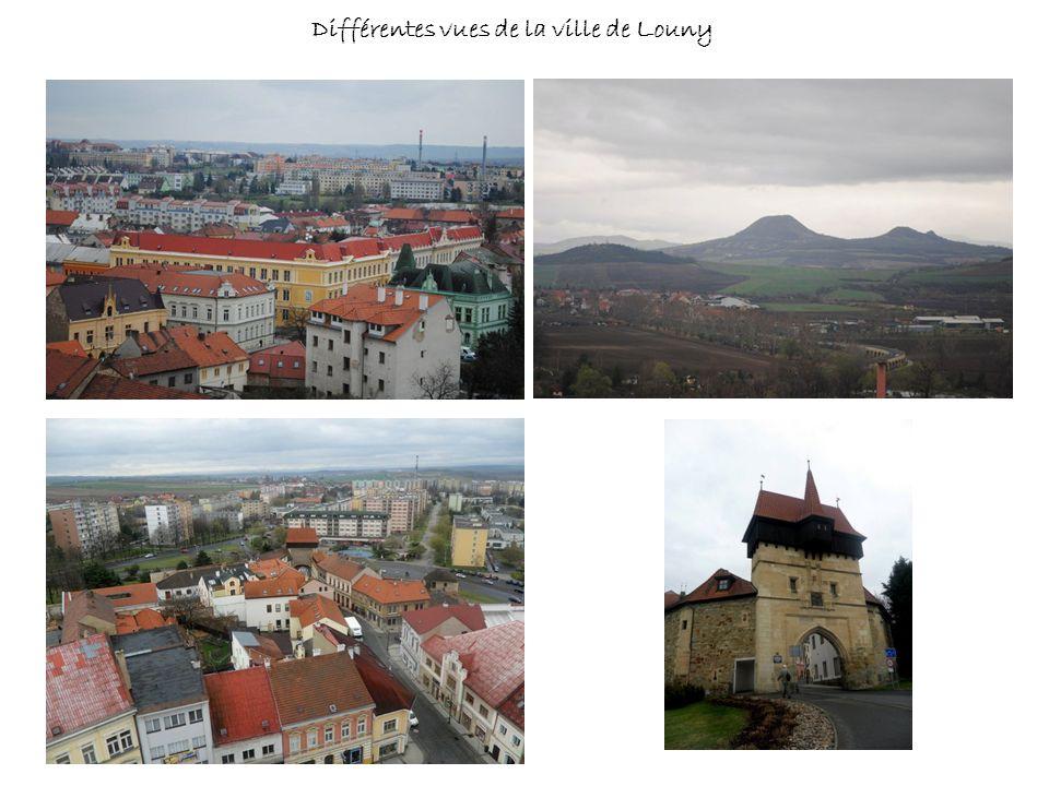 Différentes vues de la ville de Louny