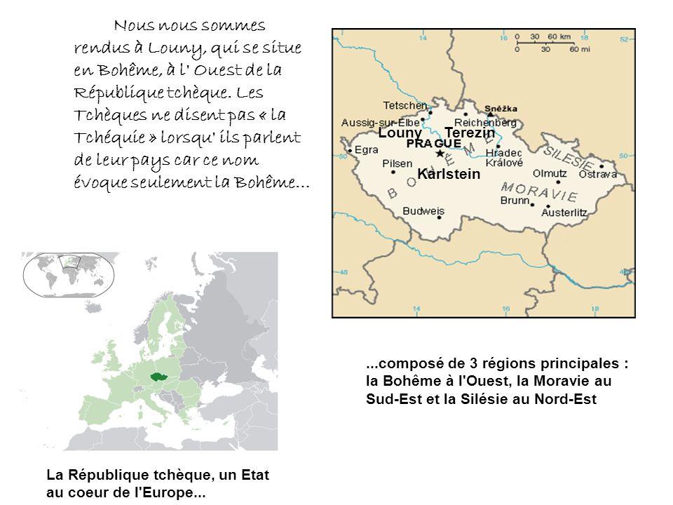 La République tchèque, un Etat au coeur de l'Europe......composé de 3 régions principales : la Bohême à l'Ouest, la Moravie au Sud-Est et la Silésie a