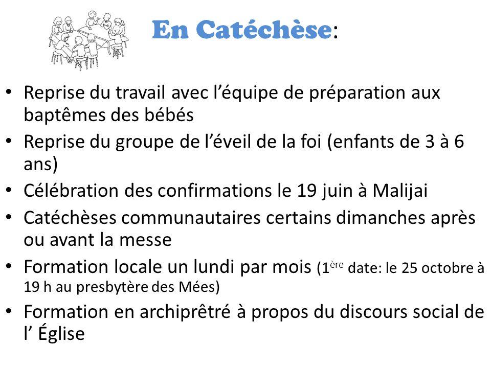 La fraction du pain Dates importantes pour notre communauté: – 2 juin: premières communions aux Mées (Jeudi-de-lAscension) – 5 juin: premières communions à Peyruis – 12 juin: premières communions à Malijai – 19 juin: confirmations à Malijai