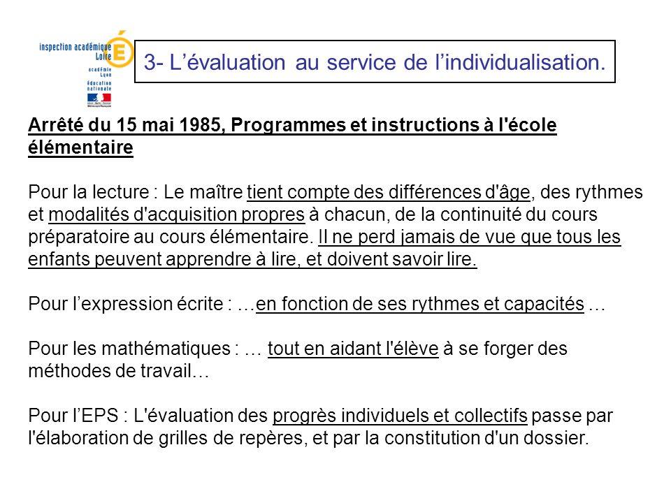 Arrêté du 15 mai 1985, Programmes et instructions à l'école élémentaire Pour la lecture : Le maître tient compte des différences d'âge, des rythmes et