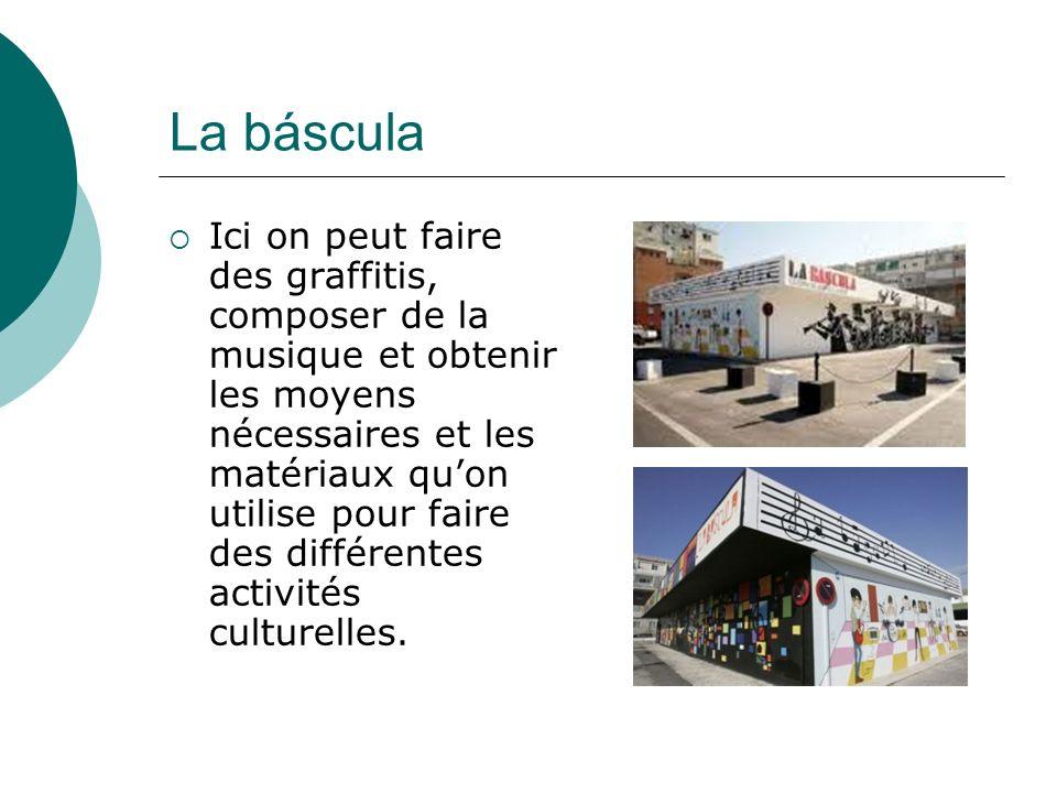 La báscula Ici on peut faire des graffitis, composer de la musique et obtenir les moyens nécessaires et les matériaux quon utilise pour faire des différentes activités culturelles.