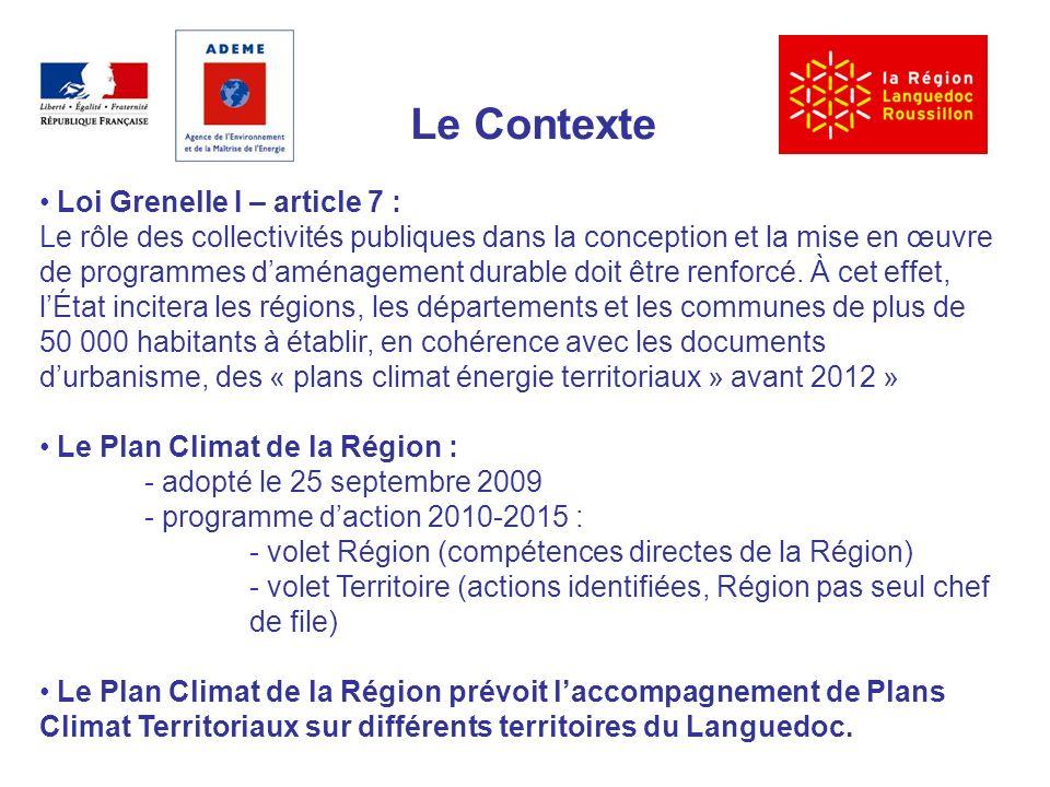 Le Contexte Loi Grenelle I – article 7 : Le rôle des collectivités publiques dans la conception et la mise en œuvre de programmes daménagement durable doit être renforcé.