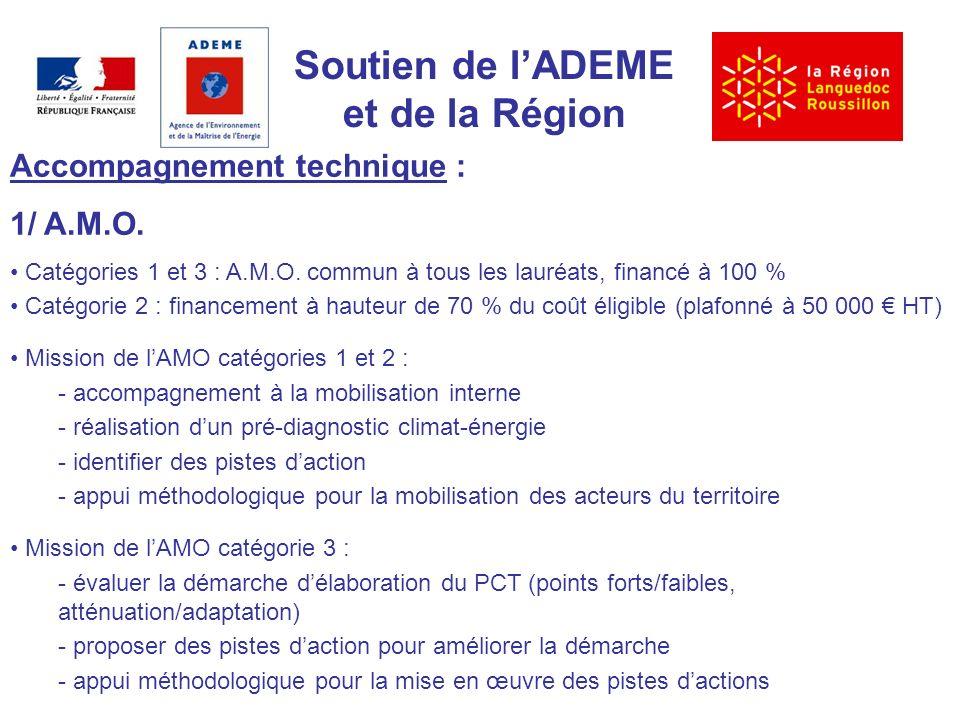 Soutien de lADEME et de la Région Accompagnement technique : 1/ A.M.O.