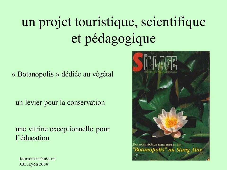 Journées techniques JBF, Lyon 2008 un projet touristique, scientifique et pédagogique « Botanopolis » dédiée au végétal un levier pour la conservation une vitrine exceptionnelle pour léducation