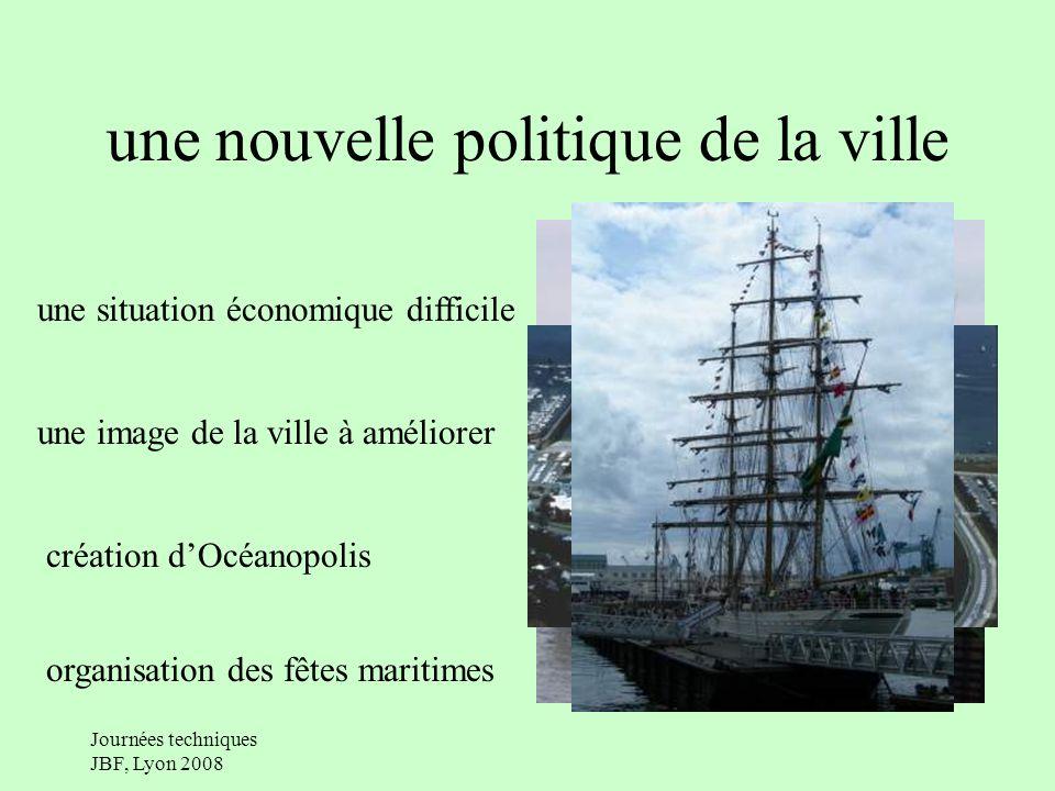 Journées techniques JBF, Lyon 2008 une nouvelle politique de la ville une situation économique difficile une image de la ville à améliorer création dOcéanopolis organisation des fêtes maritimes