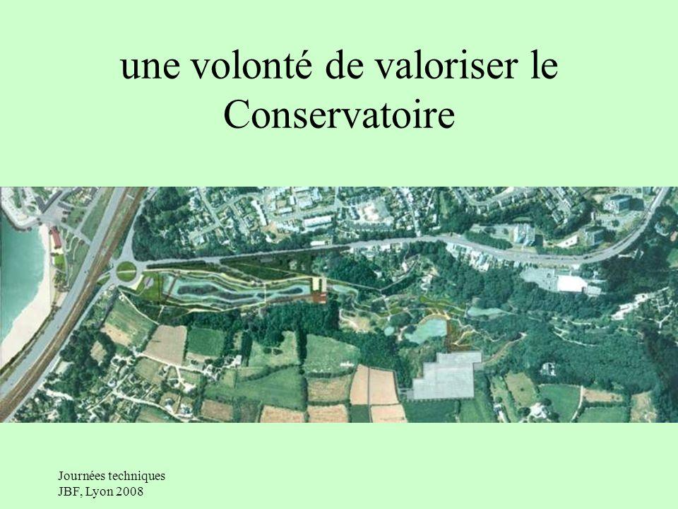 Journées techniques JBF, Lyon 2008 un pré-projet lobjectif: construction industrielle pour avoir un maximum de surface serres du parc Citroën: 5 400 /m2 serres Phoenix: 1 800 /m2 projet de Brest: 5 00 /m2