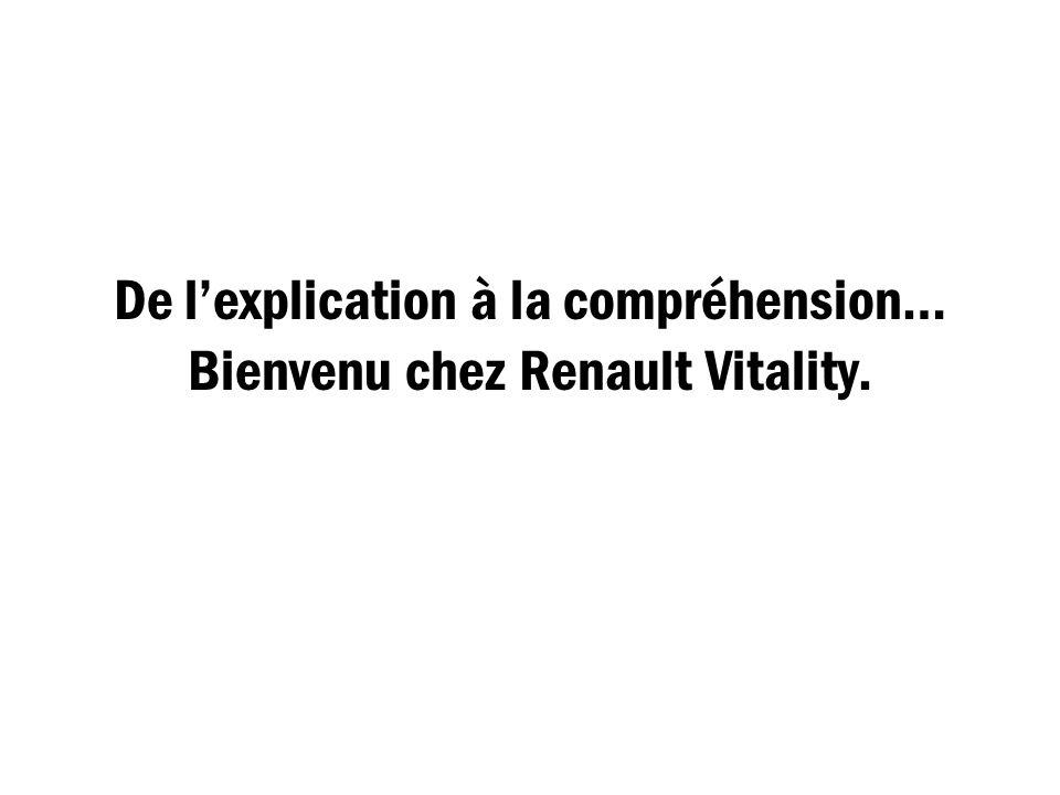 De lexplication à la compréhension… Bienvenu chez Renault Vitality.