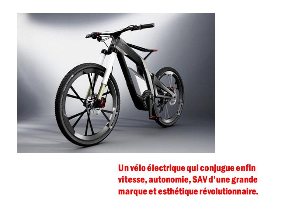Un vélo électrique qui conjugue enfin vitesse, autonomie, SAV dune grande marque et esthétique révolutionnaire.
