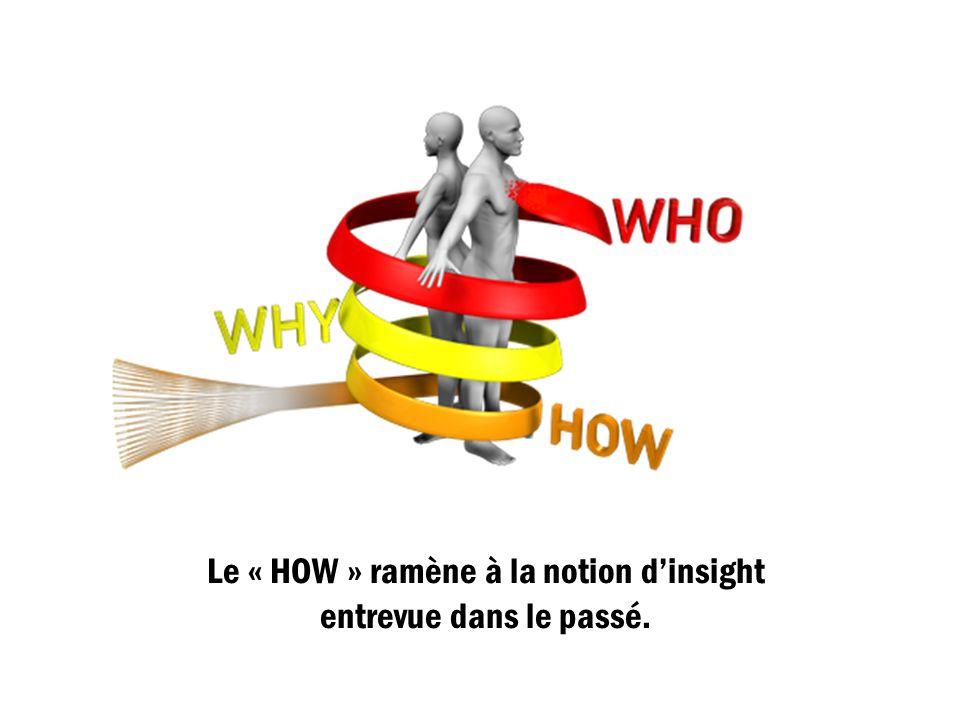 Le « HOW » ramène à la notion dinsight entrevue dans le passé.
