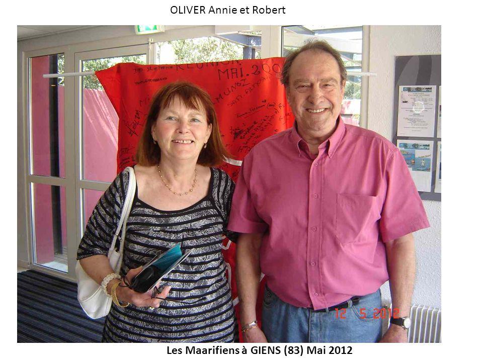 Les Maarifiens à GIENS (83) Mai 2012 OLIVER Annie et Robert