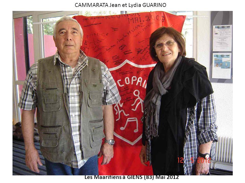 Les Maarifiens à GIENS (83) Mai 2012 CAMMARATA Jean et Lydia GUARINO