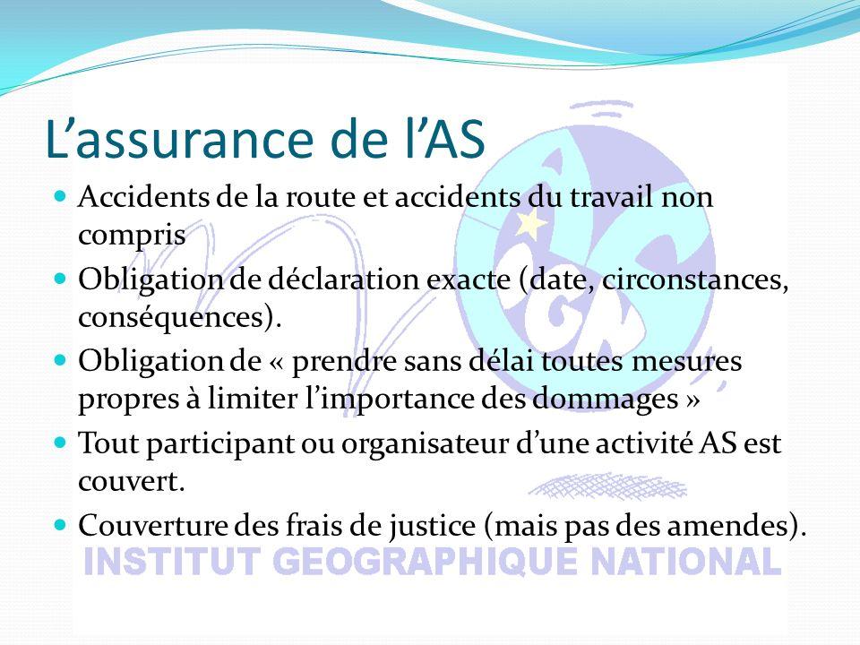 Lassurance de lAS Accidents de la route et accidents du travail non compris Obligation de déclaration exacte (date, circonstances, conséquences).