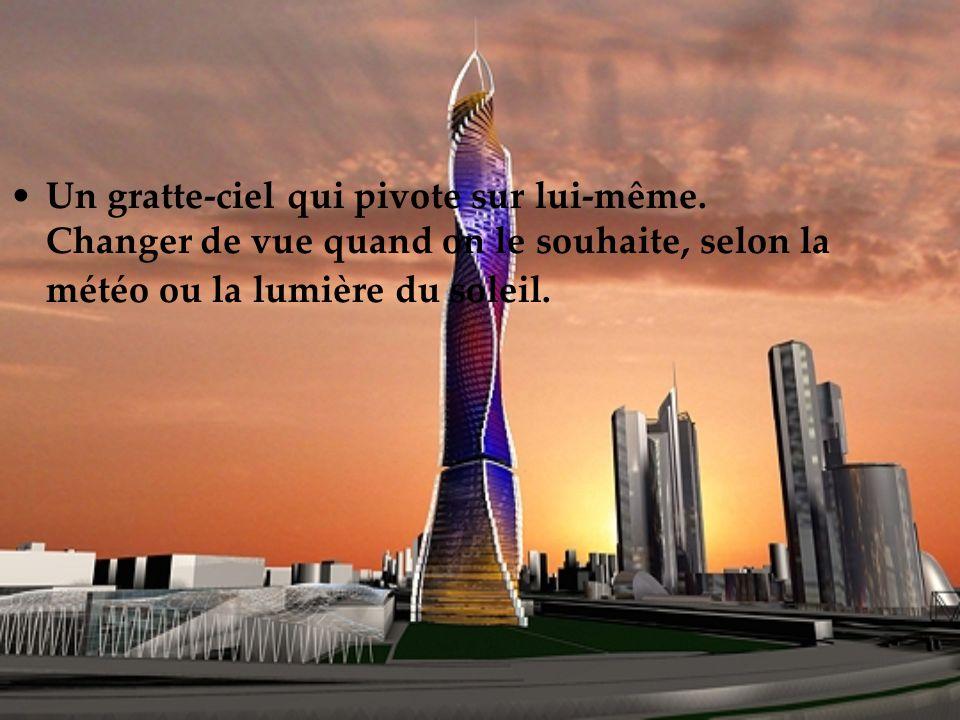 L architecte David Fischer a conçu une méthode unique, dite «méthode Fischer» pour construire ces tours.