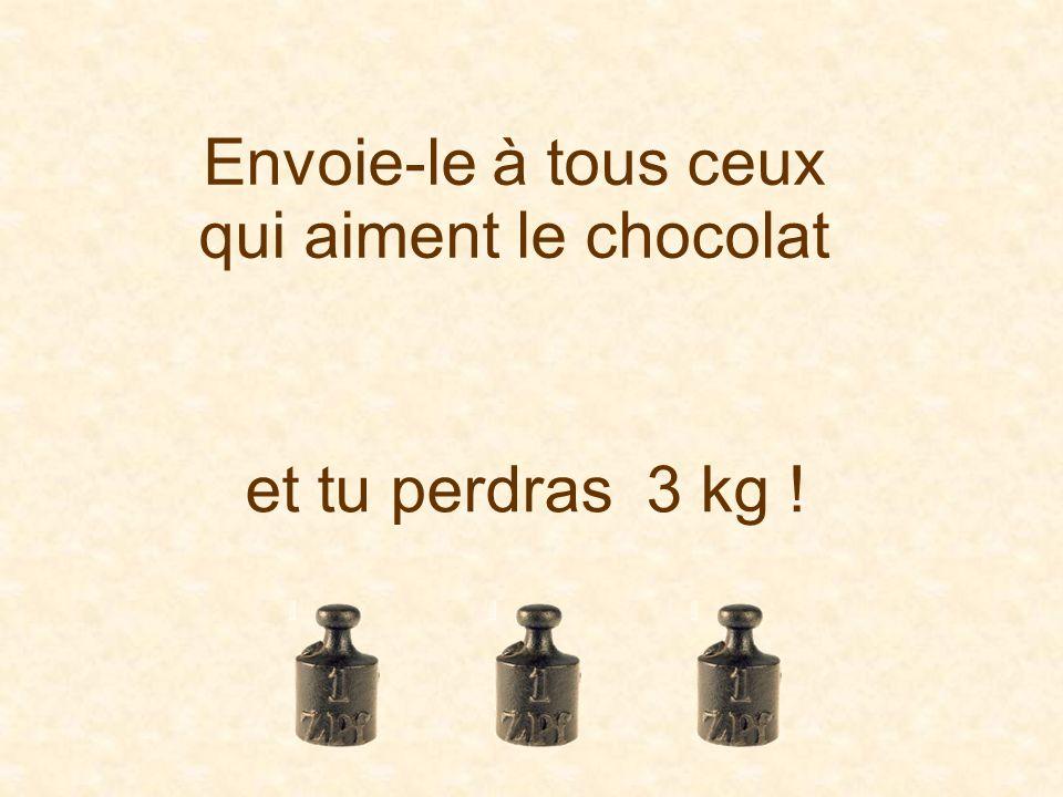 Envoie-le à tous ceux qui aiment le chocolat et tu perdras 3 kg !