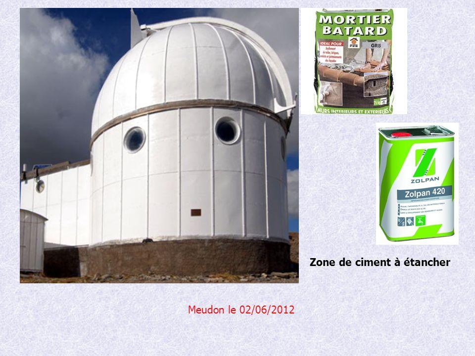 Meudon le 02/06/2012 Zone de ciment à étancher