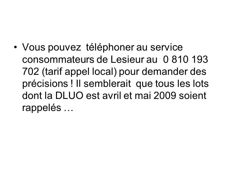 Vous pouvez téléphoner au service consommateurs de Lesieur au 0 810 193 702 (tarif appel local) pour demander des précisions ! Il semblerait que tous