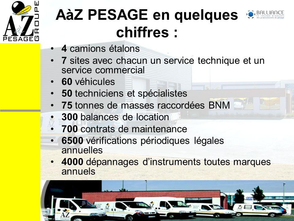 COMPETENCES Le groupe A à Z PESAGE propose une gamme de services très complète, personnalisée aux besoins de chaque utilisateur.
