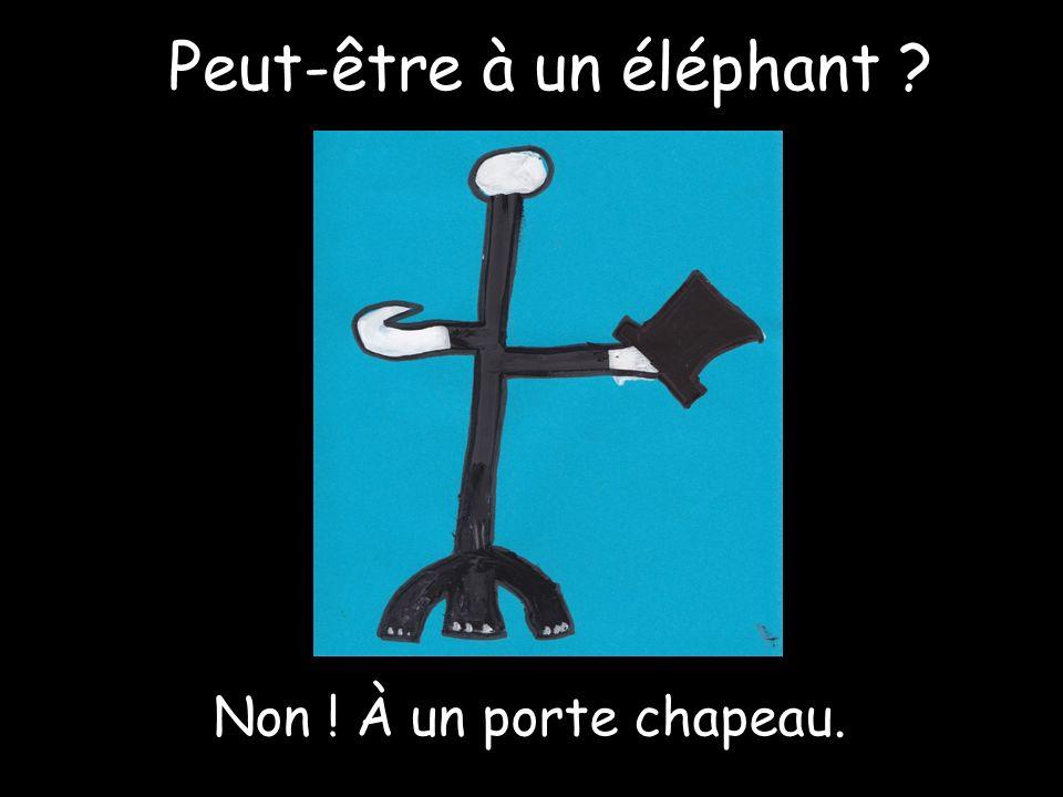 Peut-être à un éléphant Non ! À un porte chapeau.