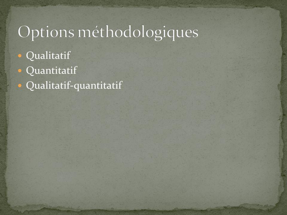 Qualitatif Quantitatif Qualitatif-quantitatif