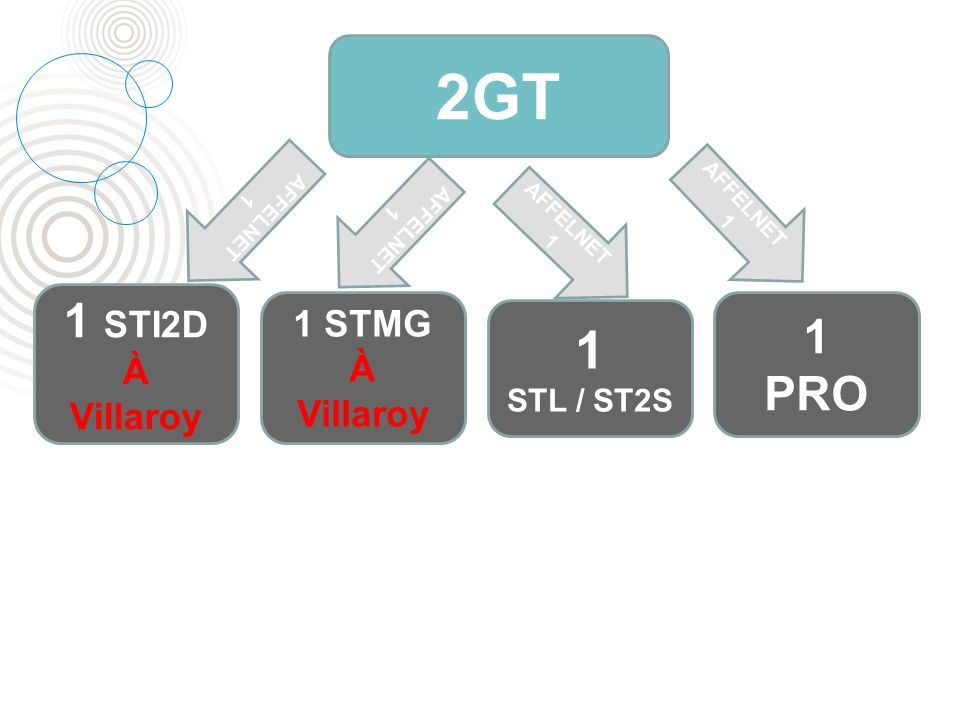 2GT 1 STL / ST2S 1 PRO 1 STMG À Villaroy 1 STI2D À Villaroy AFFELNET 1