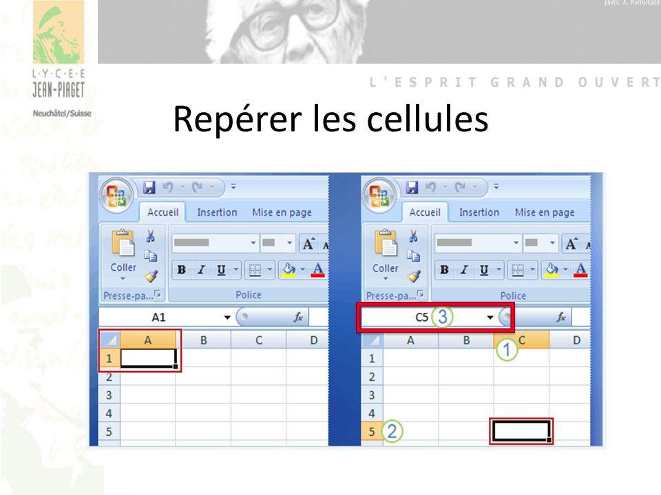 Repérer les cellules