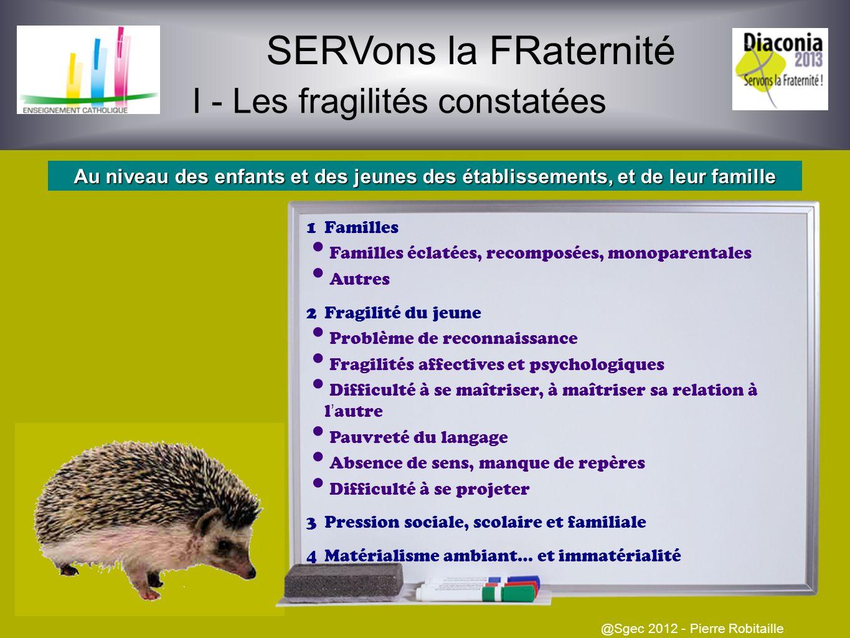 SERVons la FRaternité @Sgec 2012 - Pierre Robitaille Pour une communauté éducative solidaire des fragilités des jeunes, des adultes, du monde La grill