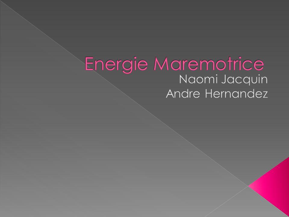 Lénergie marémotrice est une énergie naturelle renouvelable dont la production est totalement prévisible et donc programmable en fonction des besoins énergétiques.