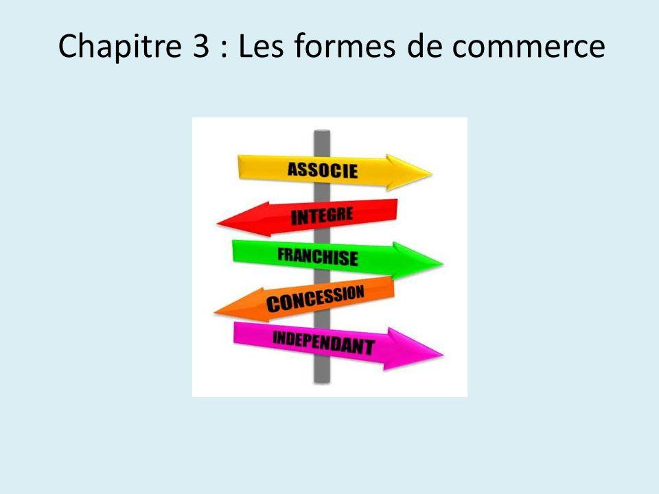 Chapitre 3 : Les formes de commerce