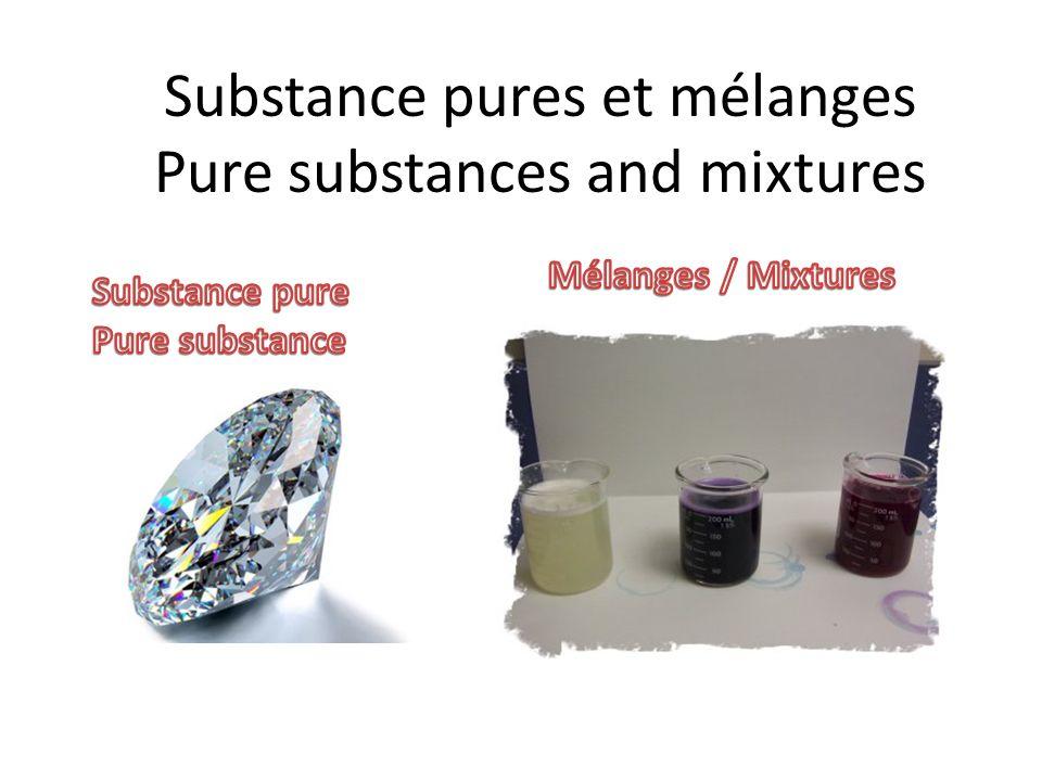 Question .Nomme une substance pure que lon retrouve à létat solide.